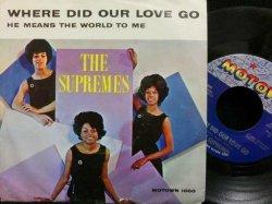 画像1: スプリームスUSジャケ原盤★THE SUPREMES-『愛はどこへ行ったの/WHERE DID OUR LOVE GO』
