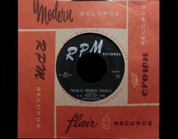 西海岸ブルース☆B.B.KING-『TROUBLES, TROUBLES, TROUBLES』 - MODERN RECORDS 1号店